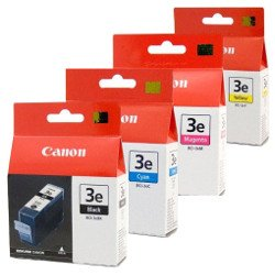 Canon BCI-3e 4 Pack Bundle (Genuine)