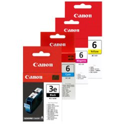 Canon BCI-3e/BCI-6 4 Pack Bundle (Genuine)
