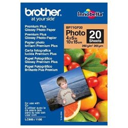 Brother BP71GP20 4x6 inch Premium Plus Glossy Photo Paper