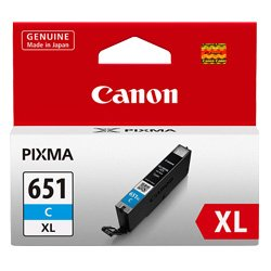 Canon CLI-651XLC Cyan High Yield (CLI-651XLC) (Genuine)