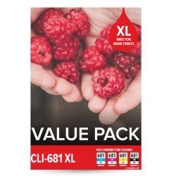 Canon CLI-681XL 4 Pack Value Pack (Genuine)