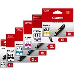 Canon PGI-680XLBK/CLI-681XL 6 Pack Bundle (Genuine)