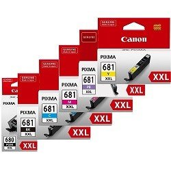 Canon PGI-680XXLBK/CLI-681XXL 6 Pack Bundle (Genuine)