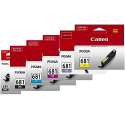 Canon PGI-680BK/CLI-681 6 Pack Bundle (Genuine)