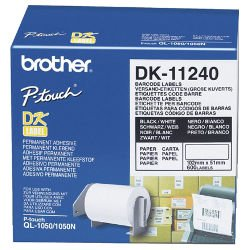 Brother DK-11240 Black on White (Genuine)