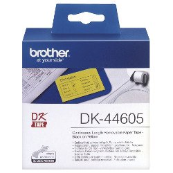 Brother DK-44605 Black on Yellow (Genuine)