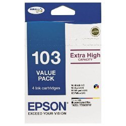 Epson 103 4 Pack Bundle (Genuine)