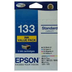 Epson 133 5 Pack Bundle (Genuine)