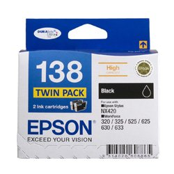 Epson 138 2 Pack Bundle (Genuine)
