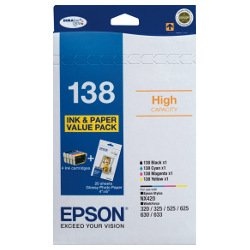 Epson 138 4 Pack Bundle (Genuine)