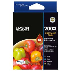 Epson 200XL 4 Pack Bundle (Genuine)