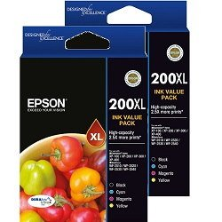 Epson 200XL 8 Pack Bundle (Genuine)