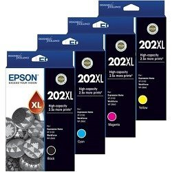 Epson 202XL 4 Pack Bundle (C13T02P192-492) (Genuine)