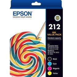 Epson 212 4 Pack Value Pack (C13T02R692) (Genuine)