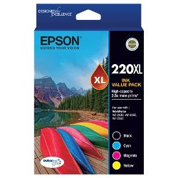 Epson 220XL 4 Pack Bundle (Genuine)