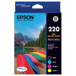Epson 220 4 Pack Bundle (Genuine)