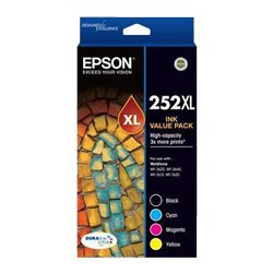 Epson 252XL 4 Pack Bundle (Genuine)