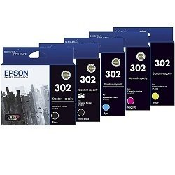 Epson 302 5 Pack Bundle (Genuine)