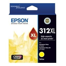 Epson 312XL Yellow High Yield Ink Cartridge (Genuine)