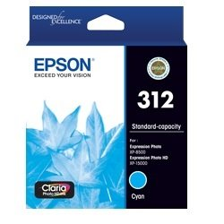 Epson 312 Cyan Ink Cartridge (Genuine)
