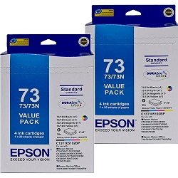 Epson 73N 8 Pack Bundle (Genuine)