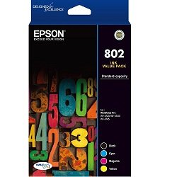 Epson 802 4 Pack Value Pack (Genuine)