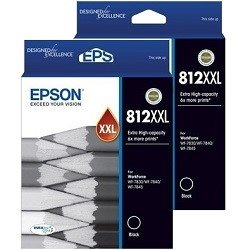 Epson 812XXL 2 Pack Bundle (Genuine)