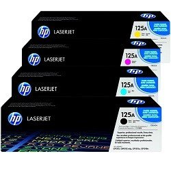HP 125A 4 Pack Bundle (CB540A-3A) (Genuine)