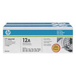 HP 12A 2 Pack Bundle (Genuine)