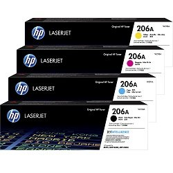 HP 206A 4 Pack Bundle (W2110A-3A) (Genuine)