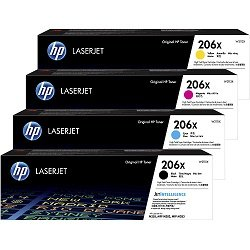 HP 206X 4 Pack Bundle (W2110X-3X) (Genuine)