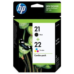 HP 21/22 (C9351AA-C9352AA) 2 Pack Bundle (Genuine)