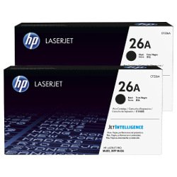 HP 26A 2 Pack Bundle  (CF226A) (Genuine)