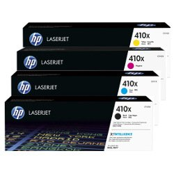 HP 410X 4 Pack Bundle (CF410-3X) (Genuine)