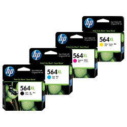 HP 564XL (CN684WA/CB323WA-CB325WA) 4 Pack Bundle (Genuine)