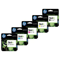 HP 564XL (CN684WA/CB322WA-CB325WA) 5 Pack Bundle (Genuine)