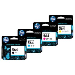 HP 564 4 Pack Bundle (CB316WA/CB318WA-CB320WA) (Genuine)