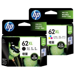 HP 62XL 2 Pack Bundle (C2P05AA/C2P07AA) (Genuine)