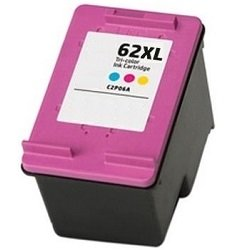 Remanufactured 62XL Tri-Colour High Yield Ink Cartridge (C2P07AA)