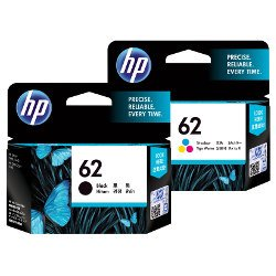 HP 62 2 Pack Bundle (C2P04AA/C2P06AA) (Genuine)