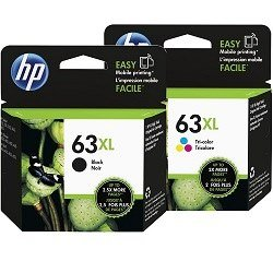 HP 63XL 2 Pack Bundle (F6U64AA-F6U63AA) (Genuine)