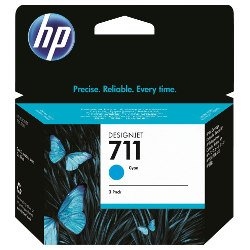 HP 711 3 Pack Cyan Value Pack (Genuine)