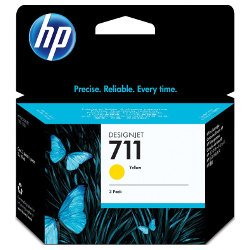 HP 711 3 Pack Yellow Value Pack (Genuine)