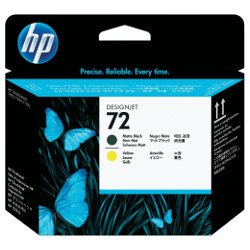 HP 72 Matt Black & Yellow Print Head (C9384A)