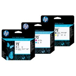 HP 72 3 Pack Bundle Print Heads (C9380A/C9383A-C9384A)