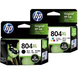HP 804XL 2 Pack Bundle (T6N11AA-12AA) (Genuine)