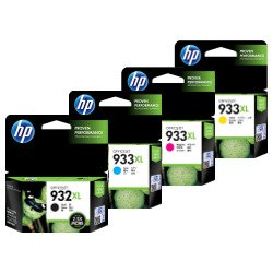 HP 932XL/933XL 4 Pack Bundle (CN053AA-CN056AA) (Genuine)
