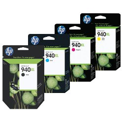 HP 940XL 4 Pack Bundle (C4906AA-C4909AA) (Genuine)