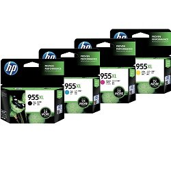 HP 955XL 8 Pack Bundle (L0S63/66/69/72AA) (Genuine)