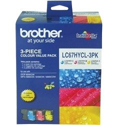Brother LC67HYCL 3 Pack Bundle (Genuine)
